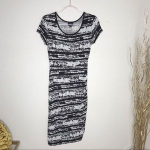 Mossimo black and white stretchy dress size S